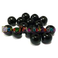 Bolsita 20 bolitas de madera antibaba 8 mm - Color Negro 44