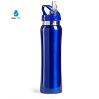 Botella de Acero con caña extraible capacidad  800 mL - Color Azul (grabar)