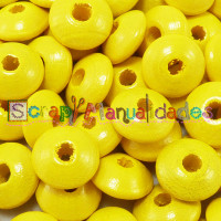 Bolsita 20 lentejas de madera 10x5 mm antibaba - Amarillo 11
