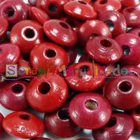 Bolsita 20 lentejas de madera 10x5 mm antibaba - Granate 15