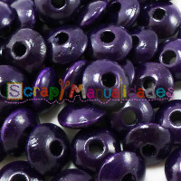 Bolsita 20 lentejas de madera 10x5 mm antibaba - Violeta oscuro 31