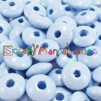 Bolsita 20 lentejas de madera 10x5 mm antibaba - Azul pastel 35