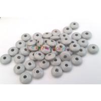 Bolsita 20 lentejas de madera 10x5 mm antibaba -  Gris claro 36