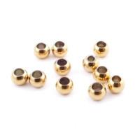 10 uds- Bola de acero dorado inoxidable 5 mm Taladro 1.7 mm