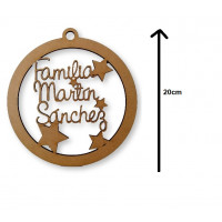 Bola de Navidad 20 cm Familiar personalizada POR ENCARGO   (15 días aprox)