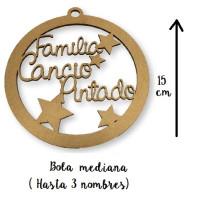 Bola de Navidad mediana - 15 cm - Familiar personalizada POR ENCARGO   (15 días aprox)
