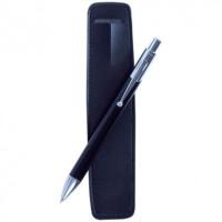 Boligrafo regalo en funda de polipiel (grabable)- Color Negro