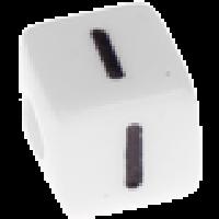 Abalorios cubos blancos abecedario 10x10 mm- 1 Unidad -Letra I