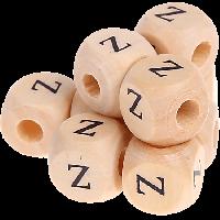 Cubo madera natural alfabeto 11x11 mm, letra Z (calidad alemana)