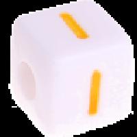 Cubo blanco abecedario 10x10 mm letras colores - Letra I