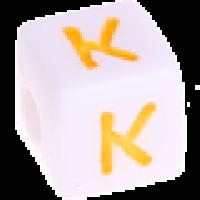 Cubo blanco abecedario 10x10 mm letras colores - Letra K