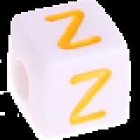Cubo blanco abecedario 10x10 mm letras colores - Letra Z