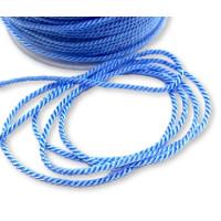 Cordón de poliamida torzado twist color pastel Azul Bebe - 1 metro