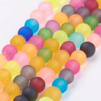 Hilera de bolas frosted ( mate) mix de colores 6 mm- 72 pcs apr