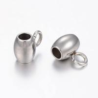 Portacolgante de acero inoxidable con anilla enganche 7x5 mm, int  2 mm