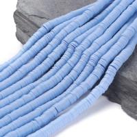 Rondel 8 mm disco arcilla Azul pastel - 8x1 mm- Hilera de 38 cm - 400 uds aprox