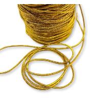Cordon elástico redondo 1.5 mm color dorado (1 metro)