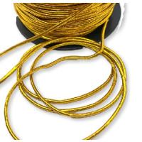Cordon elástico redondo 2 mm color dorado  ( 1 metro)