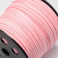 Cordón de antelina 3 mm rosa bebe (1 metro)