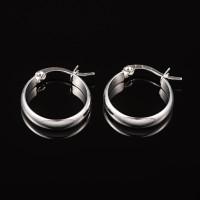 Pendientes acero inoxidable - Aros anchos 22x19x4 mm
