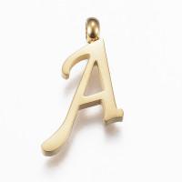 Inicial acero dorado - Letra A- Colgante tamaño 16x12 mm