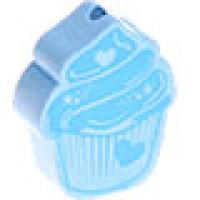 Figurita de madera PREMIUM- Pastelito 18x23 mm - Azul bebe celes
