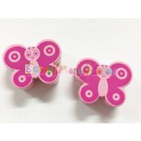 Figurita madera PREMIUM- Mariposa  28x22 mm- Rosa medio /fucsia