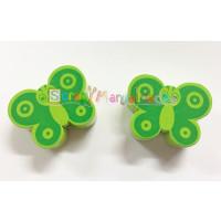 Figurita madera PREMIUM- Mariposa  28x22 mm- Verde lima/verde