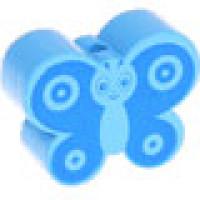 Figurita madera PREMIUM- Mariposa  28x22 mm- Azul bebe/celeste