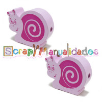 Figurita PREMIUM BRILLO-  Caracol Rosa bebé y fucsia