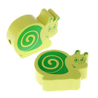 Figurita PREMIUM BRILLO-  Caracol Limon y verde