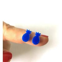 Plexy azul - Aplique piña 10 mm ( sin taladros)- 2 uds