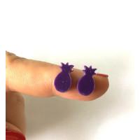 Plexy purpura - Aplique piña 10 mm ( sin taladros)- 2 uds