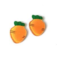 Zanahoria 25 mm -Aplique resina fruta y verdura - 1 unidad