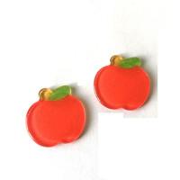 Manzana 25 mm -Aplique resina fruta y verdura - 1 unidad
