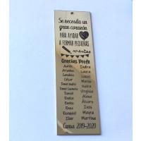 Se necesita un gran corazon para .. ( listado nombres). - Marcapaginas de acero 12x3.5 cm ( MAR-03)