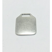 Colgante Zamak baño plata placa rectangular  ideal grabar llaveros 26x32 mm