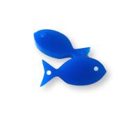 Plexy azul electrico - Entrepieza pez 22 mm, int 1.5 m