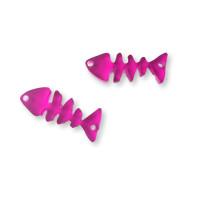 Plexy fucsia - Entrepieza raspa pescado 21x9 mm, int 1.2 mm