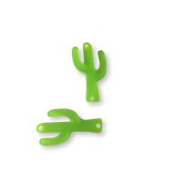 Plexy verde lima- Entrepieza cactus 23 mm, int 1.2 mm