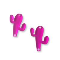 Plexy fucsia - Entrepieza cactus 23 mm, int 1.2 mm