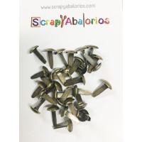 Brads 30 uds - Redondo bronce 14x8 mm
