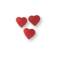 Colgante mini corazon de plexy rojo 7 mm - 1 unidad