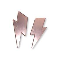 Aplique metacrilato plexy rayo maxi 55x23 mm - Rosa espejo- 2 uds
