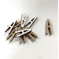 Letra adhesiva manuscrita madera DM - Mayusculas 2 cm - Letra A