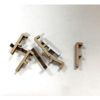 Letra adhesiva manuscrita madera DM - Mayusculas 2 cm - Letra F