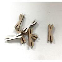 Letra adhesiva manuscrita madera DM - Mayusculas 2 cm - Letra K