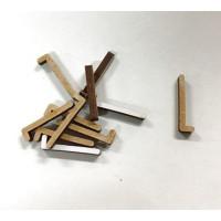 Letra adhesiva manuscrita madera DM - Mayusculas 2 cm - Letra L