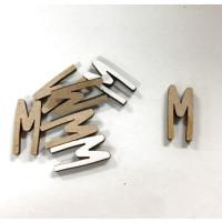 Letra adhesiva manuscrita madera DM - Mayusculas 2 cm - Letra M