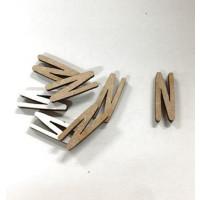 Letra adhesiva manuscrita madera DM - Mayusculas 2 cm - Letra N